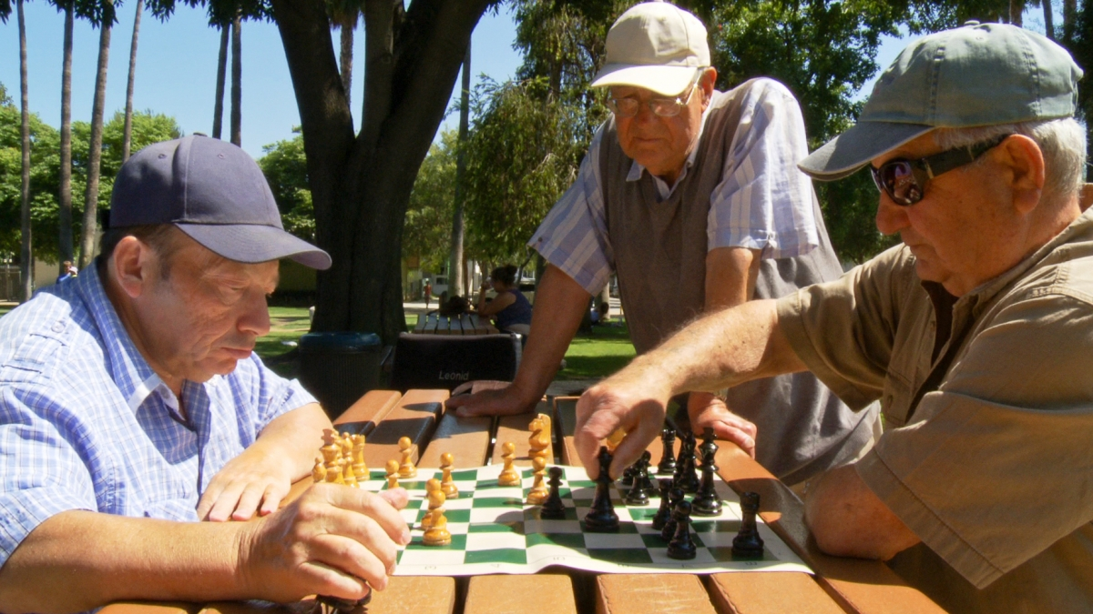 Plummer Park in West Hollywood has become a gathering place for Soviet Jewish emigres.