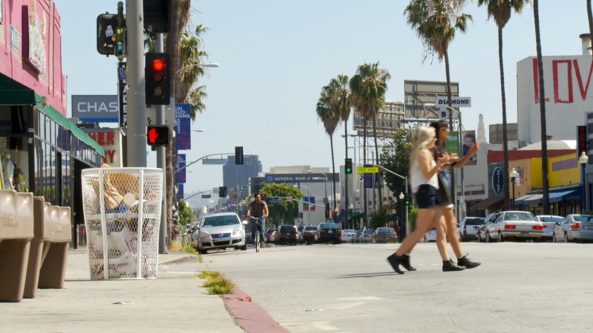Fairfax Avenue in West Los Angeles is home to many Soviet Jewish families and a number of small Russian shops and eateries.